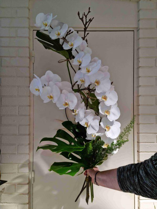 Bouquet deuil orchidées