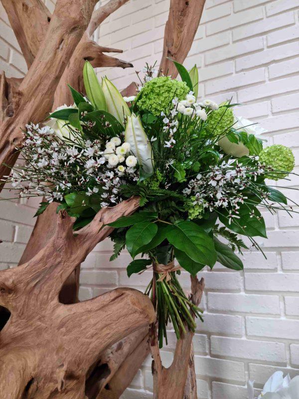 Bouquet longues tiges fleurs de saison