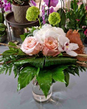 bouquet moderne hortensia blanc