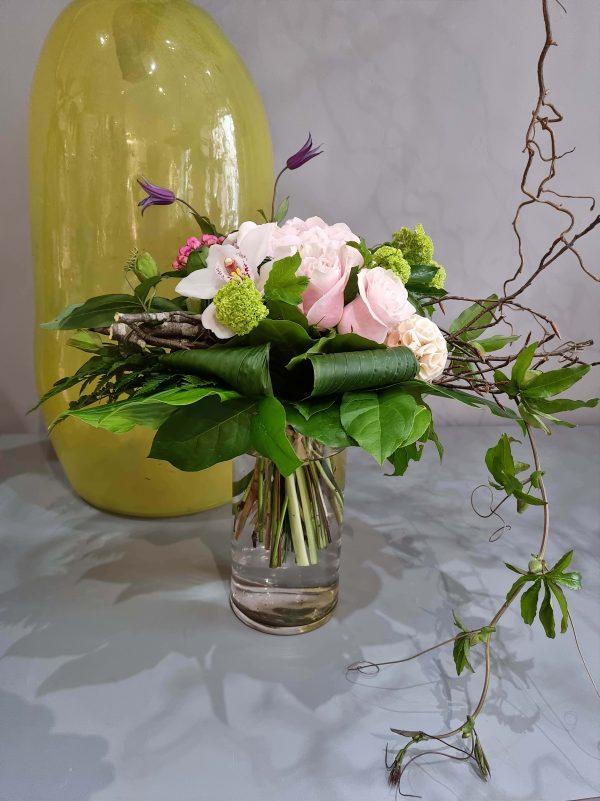 bouquet moderne hortensia rose 2