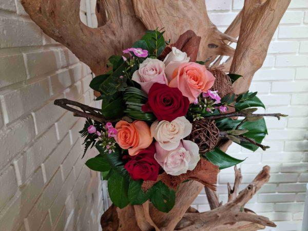 Bouquet moderne multi-roses