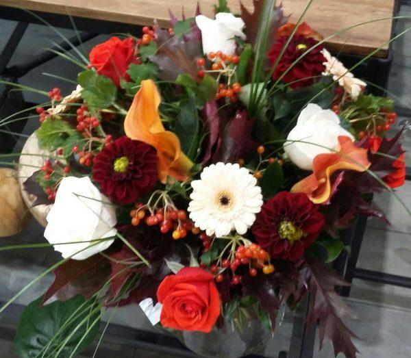 bouquet rond automne