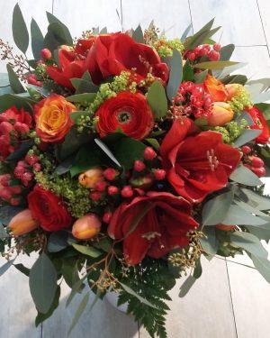 bouquet rond hiver